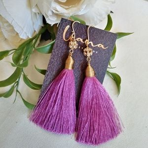 Mexican long tassel earrings. long drop earrings.